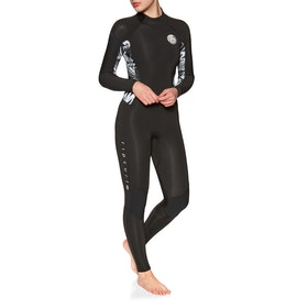 Rip Curl Dawn Patrol 4/3mm Back Zip Womens Wetsuit - Black/ Black