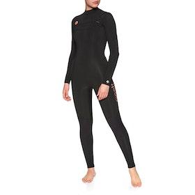 Sisstrevolution 7 Seas 4/3mm Chest Zip Womens Wetsuit - Black