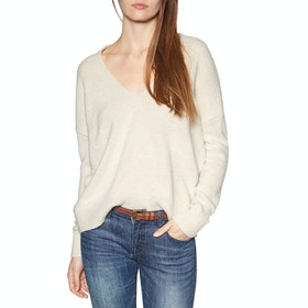 Superdry Isabella Slouch Vee Knit Womens Knits - Oatmeal