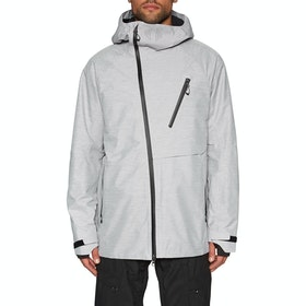 686 Glcr Hydra Thermagraph Snow Jacket - White Heather
