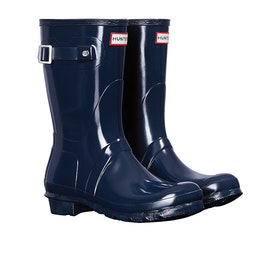 Hunter Original Short Gloss Womens Wellies - Navy