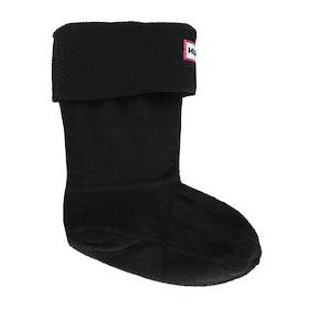 Hunter Original Fleece Kinder Wellingtons Socks - Black