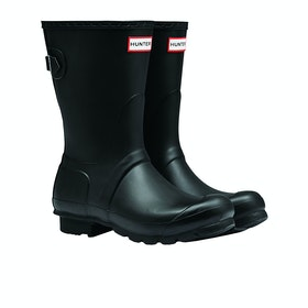 Hunter Original Back Adjustable Short Womens Wellies - Black