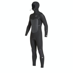 Billabong Furnace Absolute 5/4mm Chest Zip Hooded Boys Wetsuit - Black