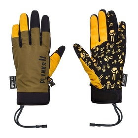 Planks High Times Pipe Snow Gloves - Army Green