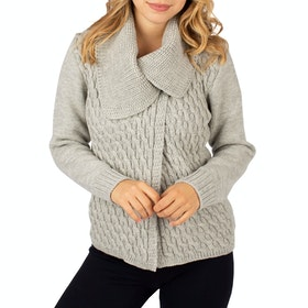 Peregrine Made In England Crawford Ladies Cardigan - Light Grey