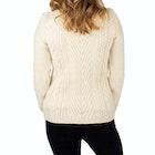 Peregrine Made In England Aran Funnel Neck Women's Sweater