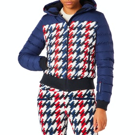 Perfect Moment Cordon Down Damen Snowboard-Jacke - Navy Hounstooth