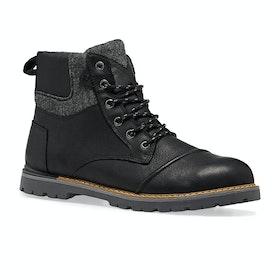 Stivali Toms Ashland Waterproof Brushed Wool - Black Leather