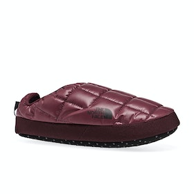North Face Thermoball Tent Mule V Womens Slippers - Deep Garnet Red Tnf Black
