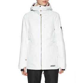 686 Aeon Insulated Womens Snow Jacket - White Dobby