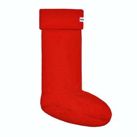 Hunter New Original Fleece Tall Wellingtons Socks - Red