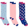Derby House Bamboo Cotton Unicorn Pack of 3 Ladies Socks