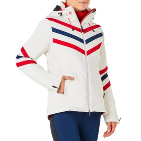 Perfect Moment Chevron Stripes Damen Snowboard-Jacke - Snow White