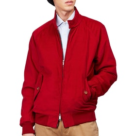 Baracuta G9 Winter Cord Authentic Fit Men's Jacket - Dark Red