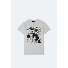 T-Shirt a Manica Corta Chari & Co Noise Punk - White