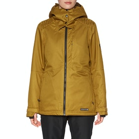 Blouson pour Snowboard Femme 686 Aeon Insulated - Golden Brown Dobby
