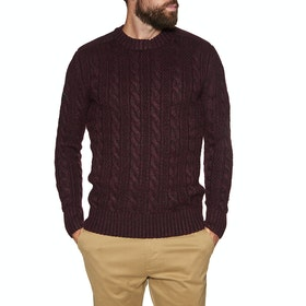 Sweat Superdry Jacob Crew - Bright Buck Burgundy Twist
