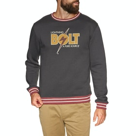 Lightning Bolt Barry Crew Sweater - Phantom