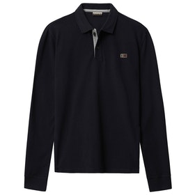 Napapijri Taly 2 Long Sleeve Polo Shirt - Blue Marine
