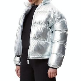 Napapijri Art Puffer Women's Jacket - Metallic Silver