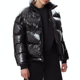 Napapijri Art Superlight Shiny Womens Bunda - Black