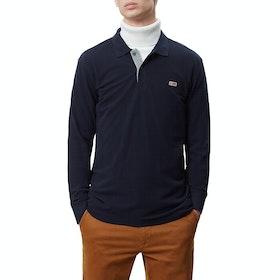 Napapijri Taly 2 Long Sleeve Polo Shirt - Blue Marine