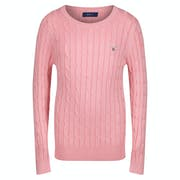 Gant Stretch Cotton Cable Crew Girl's Sweater