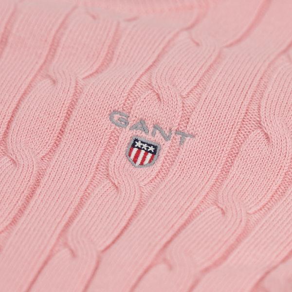 Gant Stretch Cotton Cable Crew Trui