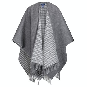 Gant Hounds Tooth Women's Poncho - Charcoal Melange