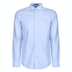 Gant Regular Oxford Men's Shirt - Capri Blue