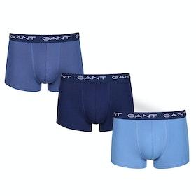 Gant 3-pack Trunk Seasonal Solid Boxer Shorts - Vintage Blue
