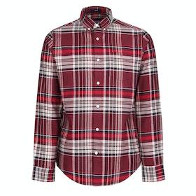 Gant Brushed Oxford Reg Shirt - Port Red