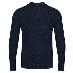Gant Neps Knit Crew Sweater - Evening Blue