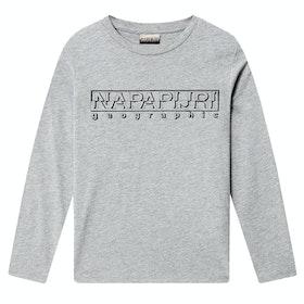Napapijri K Soli Ls Kid's Long Sleeve T-Shirt - Med Grey Mel