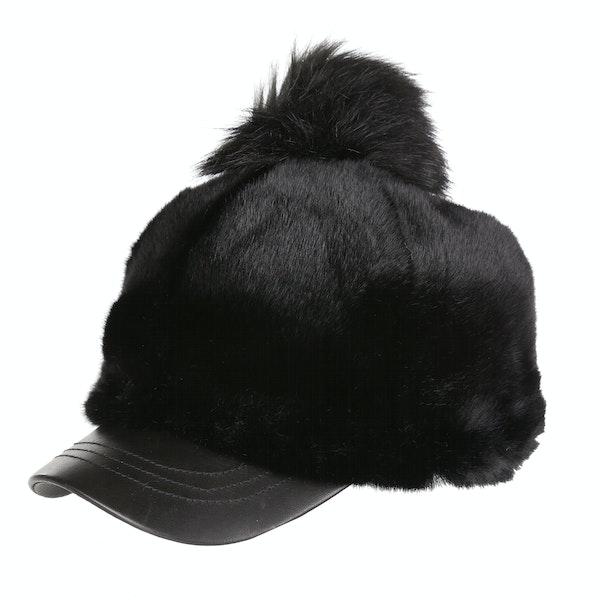 UGG Faux Fur With Pom Baseball Cap