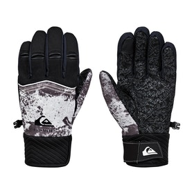 Quiksilver Method Youth Boys Snow Gloves - Castle Rock Splash