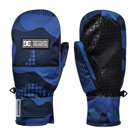 DC Franchise Mitts Boys Snow Gloves - Monaco Blue Pill Camo