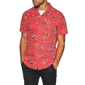 Rip Curl Velzy Short Sleeve Shirt - Bright Red