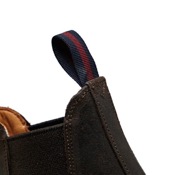 Sanders Kenia Waxy Suede Rubber Stud Sole Chelsea Boots