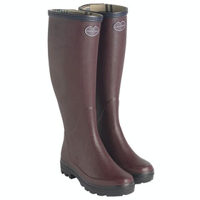Le Chameau Giverny Jersey Lined Gummistiefel - Cherry