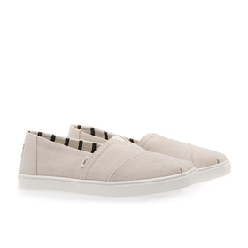 Toms Canvas Cupsole Women's Slip On Trainers - Natural