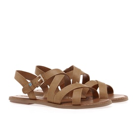 Toms Sicily Leather Damen Sandalen - Natural