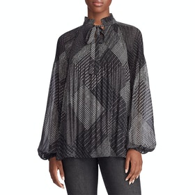 Lauren Ralph Lauren Duong Long Sleeve Women's Shirt - Polo Black Multi
