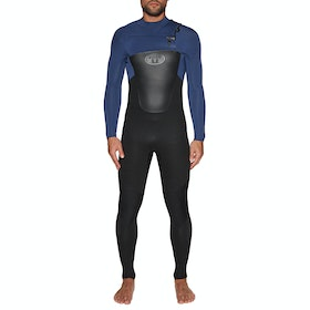 Animal Lava 4/3mm Chest Zip Wetsuit - Black