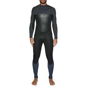 Animal Lava 5/4/3mm Chest Zip Wetsuit - Black