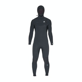 Billabong Furnace Comp 4/3mm Chest Zip Hooded Wetsuit - Black