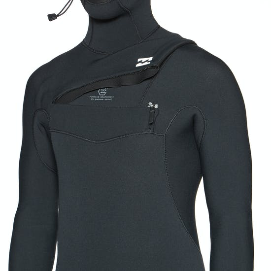 Billabong Furnace Comp 4/3mm Chest Zip Hooded Wetsuit