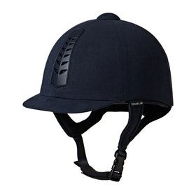 Dublin Silver Pro Riding Hat - Navy