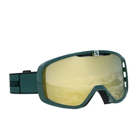 Salomon Aksium Snow Goggles - Green Gable ~ Solar Bronze
